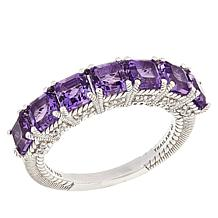 Judith Ripka 7-Stone Amethyst and Diamonique®-Accented Ring