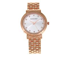 Kessaris Women's Crystal-Accented Bracelet Watch