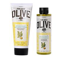 Korres Olive Oil & Bergamot 2-piece Bath and Body Set