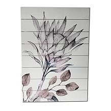 "Kroll Creations Soft Protea 18"" x 26"" Print on Planked Wood Art"