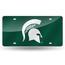 Laser Tag License Plate - Michigan State Un. (Green)