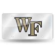 Laser Tag License Plate - Wake Forest University (Silver)