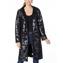 Laurier Reversible Faux Shearling Coat with Grommets