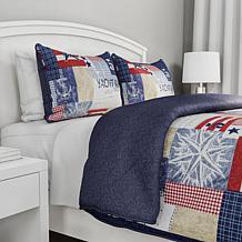 Lavish Home Quilt Set Patriotic Americana