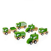 Leading Edge Wooden Cars and Trucks City Vehicles with Gift Box