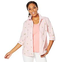 Lemon Way 365 Poplin Stretch Embroidered Button-Down Shirt