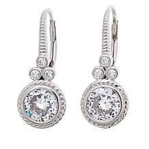 Leslie Greene 1.89ctw Cubic Zirconia Cluster Earrings