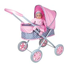 """Lissi Doll Baby Pram with 14"""" Soft Baby"""