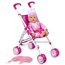 Loko Toys Sweet Baby Doll Stroller Playset