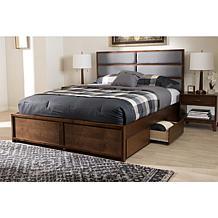 Macey Fabric Upholstered Storage Platform Bed