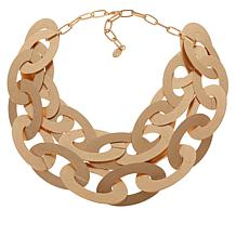 MarlaWynne Bold Oval Link 2-Row Necklace