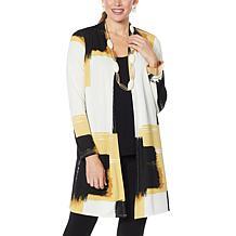 MarlaWynne Luxe Jersey Belted Print Cardigan