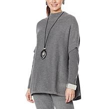 MarlaWynne SoftKNIT Turtleneck Poncho Sweater