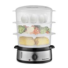 Maxi-Matic Elite Gourmet 9-Qt Stainless Steel 3-Tier Food Steamer