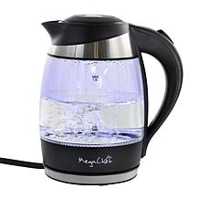 Mega Chef 1.8-Liter Glass and Stainless Steel Electric Tea Kettle
