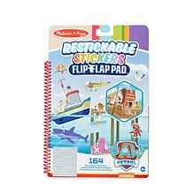 Melissa&Doug Paw Patrol Restickable Stickers FlipFlap Pad-AdventureBay
