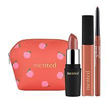 Mented 3-piece Peach Set with Makeup Bag