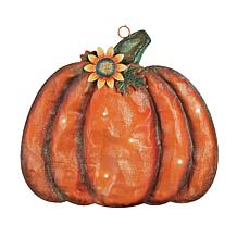 Meshed Pumpkin Decor w- LED