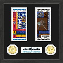 Miami Marlins 2-Time World Series Ticket Collection