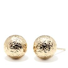Michael Anthony Jewelry® 10K Diamond-Cut Ball Stud Earrings