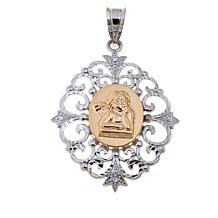 "Michael Anthony Jewelry® 2-Tone ""Angel"" Pendant"