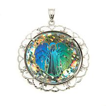 Michael Anthony Jewelry® Angel Hologram Sterling Silver Pendant