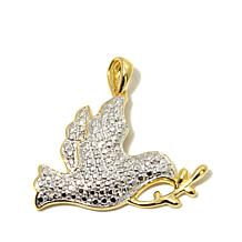 "Michael Anthony Jewelry® ""Dove"" Diamond-Accent Pendant"