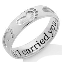 Michael Anthony Jewelry® Footprints Sterling Band Ring