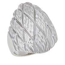 Michael Anthony Jewelry® Sterling Silver Diamond-Cut Dome Ring