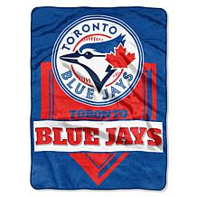 MLB Blue Jays Home Plate Raschel Throw Blanket