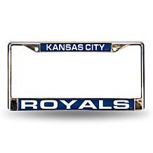 MLB Blue Laser-Cut Chrome License Plate Frame - Royals