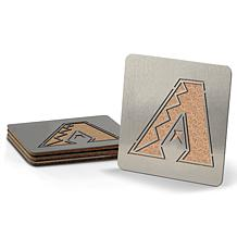 MLB Boasters 4-piece Coaster Set - Arizona Diamondbacks