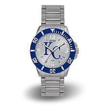 "MLB Sparo ""Key"" Team Logo Stainless Steel Bracelet Watch - Royals"