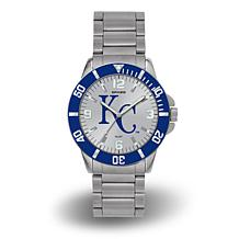 "MLB Sparo ""Key"" Team Logo Stainless Steel Bracelet Watch - Royals"