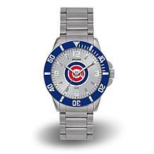 "MLB Sparo ""Key"" Team Logo Stainless Steel Watch - Chicago Cubs"