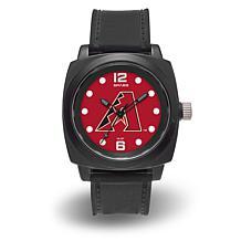 "MLB Sparo Team Logo ""Prompt"" Black Strap Sports Watch - Diamondbacks"