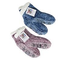 MUK LUKS 2-pack Chenille Cabin Socks