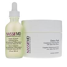 NassifMD® Hydro-Screen Hydrating Serum & Detox Pads