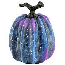 "National Tree Company 9"" Purple Galaxy Pumpkin Tabletop Décor"