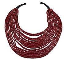 Natural Beauties 15-Strand Coconut Shell and Buffalo Horn Necklace