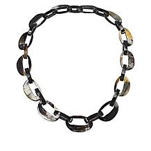 Natural Beauties Oval Watusi Horn Link Necklace