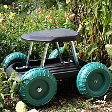 Navarro Rolling Garden Work Scooter with Tool Tray