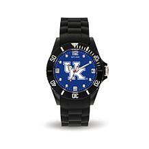 NCAA Team Logo Spirit Black Rubber Strap Sports Watch - Kentucky