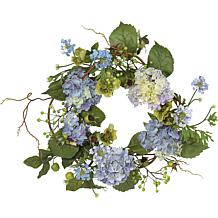 "Nearly Natural 20"" Hydrangea Wreath"