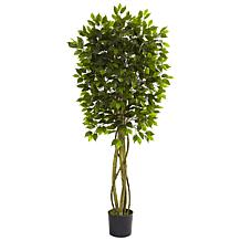 Nearly Natural 5.5 ft. Ficus Tree UV Resistant Indoor/Outdoor Plant