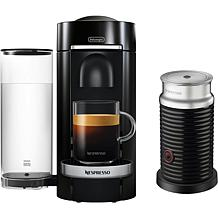 Nespresso VertuoPlus Black Single-Serve Machine w/Aeroccino Frother