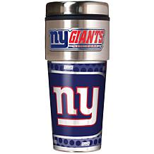New York Giants Travel Tumbler w/ Metallic Graphics and Team Logo