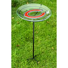NFL Garden Stake Bird Bath - Bears