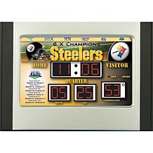 NFL Scoreboard Desk Clock - Pittsburgh Steelers
