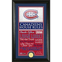 NHL House Rules Supreme Bronze Coin Photo Mint - Montreal Canadiens